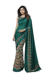 De Marca Dark Green Colour Banglori Silk Saree (code - 609-2506)