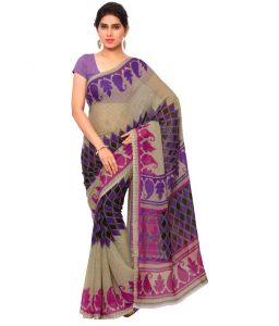 De Marca Multi Colour Faux Georgette Saree (product Code - Afand1112c)