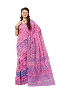 De Marca Pink Cotton Saree (code - Ali6813)