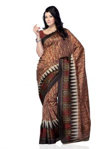 De Marca Jacquard Grey - Red Saree For Womens - (code -df-363d)