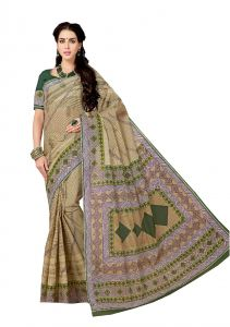 De Marca Brown Pure Cotton Saree (code - Kal4960)