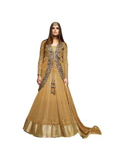 De Marca Golden Pure Soft Net Semi Stitch Gown (product Code - Lil9050)