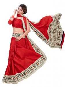 De Marca Red Kanchipuram Silk Saree (product Code - Mok5707b)