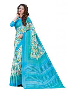 De Marca Blue Kanchipuram Silk Saree (product Code - Mok5710b)