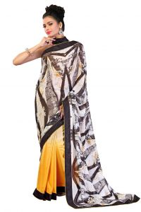 De Marca Chiffon_georgette In Multi Sarees For Women - (code -mp1008)