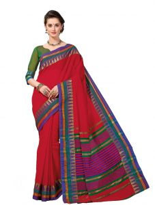 De Marca Multicolor Cotton Saree (product Code - Riya421)