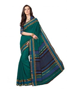 De Marca Multicolor Cotton Saree (product Code - Riya424)