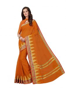 De Marca Multicolor Cotton Saree (product Code - Riya425)