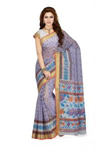 De Marca Purple Colour Cotton Blend Saree (product Code - Ss4100)