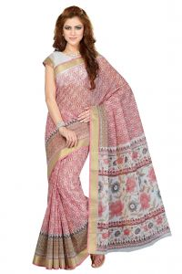 De Marca Pink Colour Cotton Blend Saree (product Code - Ss4107)