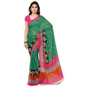 De Marca Green Art Silk Saree (product Code - Tsand055b)
