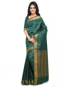 De Marca Green Colour Art Silk Saree (product Code - Tsklil49003)