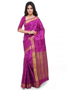 De Marca Purple Colour Art Silk Saree (product Code - Tsklil49004)