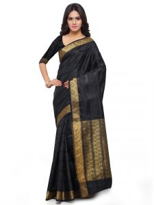 De Marca Black Colour Art Silk Saree (product Code - Tsklil49008)