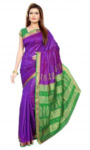 De Marca Purple Colour Art Silk Saree (product Code - Tsmrcc3001)