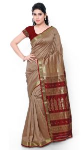 De Marca Brown Colour Art Silk Saree (product Code - Tsmrcc3010)