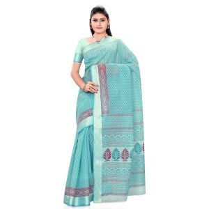 De Marca Green Art Silk Saree (product Code - Tsmrccaf1121)