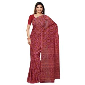 De Marca Magenta Cotton Saree (product Code - Tsmrccan1039)