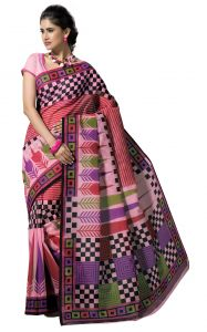 De Marca Pink Colour Cotton Blend Saree (product Code - Tsmrccrd448)