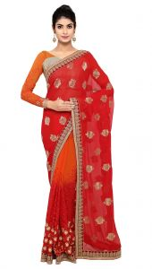 Sarees (Misc) - De Marca Red Colour Viscose Saree (Product Code - TSN87081)