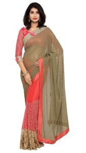 De Marca Pink Colour Chiffon Saree (product Code - Tsn97054)