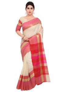 Demarca Multicolor Art Silk Blended Cotton Saree (code - Tsnast1504)