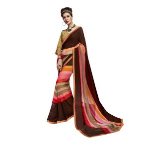 De Marca Multicolor Georgette Saree - ( Code - Tsnew14709 )