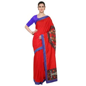 De Marca Red Art Silk Saree - ( Code - Tsnmb5101 )