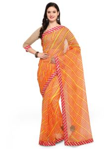 Demarca Multicolor Super Net Saree (code - Tsnrv3312)