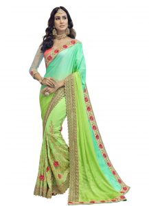 Demarca Multicolor Faux Georgette Saree (code - Tsnse5008)