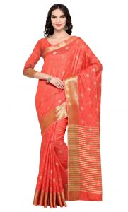 De Marca Orange Colour Banarasi Silk Saree (product Code - Tsrka13487)