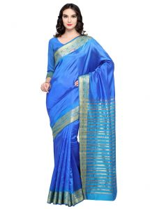 De Marca Sky Blue Colour Banarasi Silk Saree (product Code - Tsrka13491)