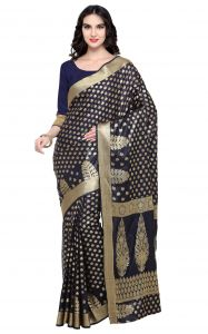 De Marca Black Colour Banarasi Silk Saree (product Code - Tsrka13494)