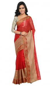 De Marca Red Colour Art Silk Saree (product Code - Tsskcmt13327a)