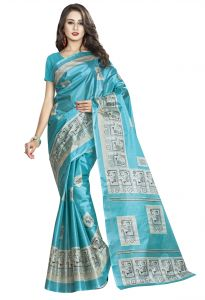 De Marca Sky Blue Colour Art Silk Saree (product Code - Tsvdpj11044)