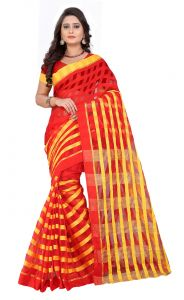 De Marca Red Colour Art Silk Saree (product Code - Tswtdy13420)