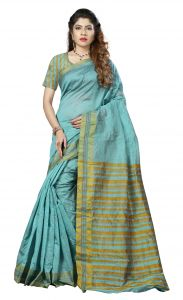 De Marca Blue Colour Art Silk Saree (product Code - Tswtdy13425)