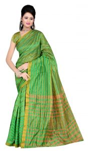 De Marca Green Colour Art Silk Saree (product Code - Tswtsn13332b)
