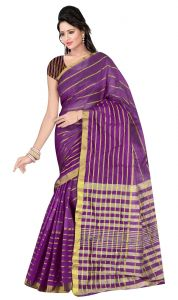 De Marca Violet Colour Art Silk Saree (product Code - Tswtsn13332d)