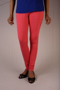 27ashwood Pinkish Printed Cotton Lycra Legging For Women