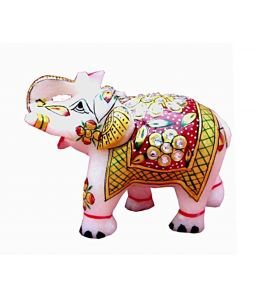 Red And Yellow Marble Elephant Chde1111
