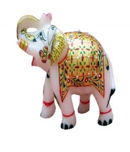 Yellow Marble Elephant Chde1113