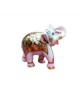 Chitrahandicraft Golden Marble Elephant Chde1117