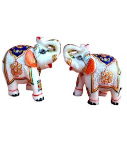 Marble Decorative Elephant Pair Chde1119