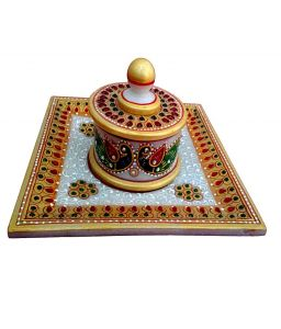 Golden Marble Tray Set