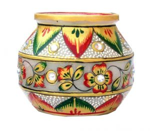 Green And Red Marble Pot
