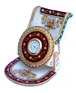 Flower Work Marble Mobile Stand