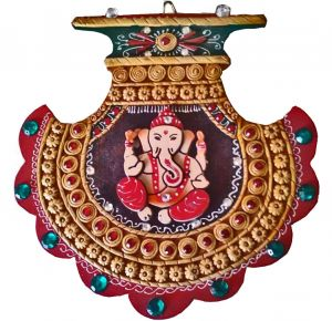 Wooden Handicrafts - CHITRAHANDICRAFT Fan Ganesha
