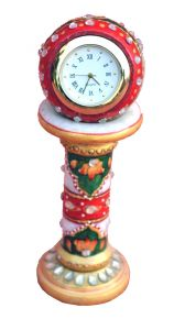 Red And Green Marble Pillar Watch
