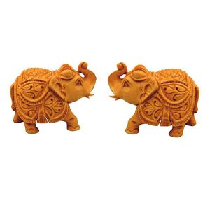Wooden Elephant Pair Chwe2709